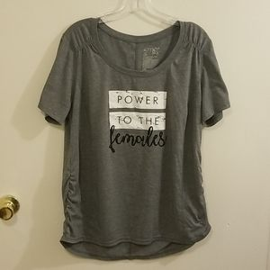 Terra & Sky Power to the Females Athletic Shirt